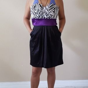Dresses & Skirts - NWOT Zebra and black formal dress